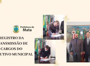REGISTRO DA TRANSMISSÃO DE CARGOS DO EXECUTIVO MUNICIPAL
