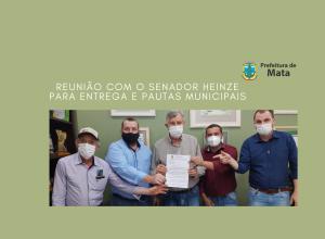 REUNIÃO COM O SENADOR LUIS CARLOS HEINZE PARA ENTREGA DE PAUTAS MUNICIPAIS
